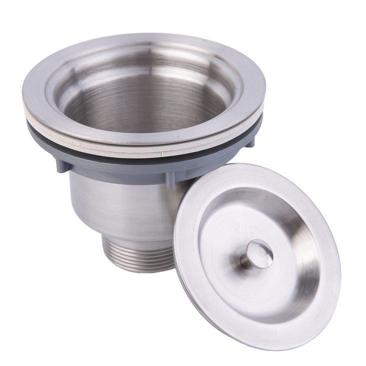 Stainless Steel Kitchen Sink Drain Assembly Waste Strainer and Basket DE  eBay # Wasbak Plug_025130