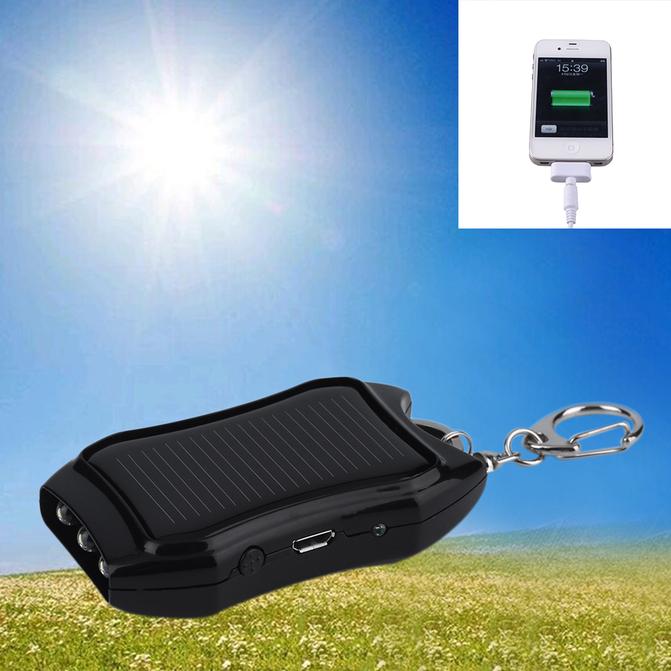 Mini Portable 1200mAh Solar Power Bank USB Charger Battery For Emergency EA
