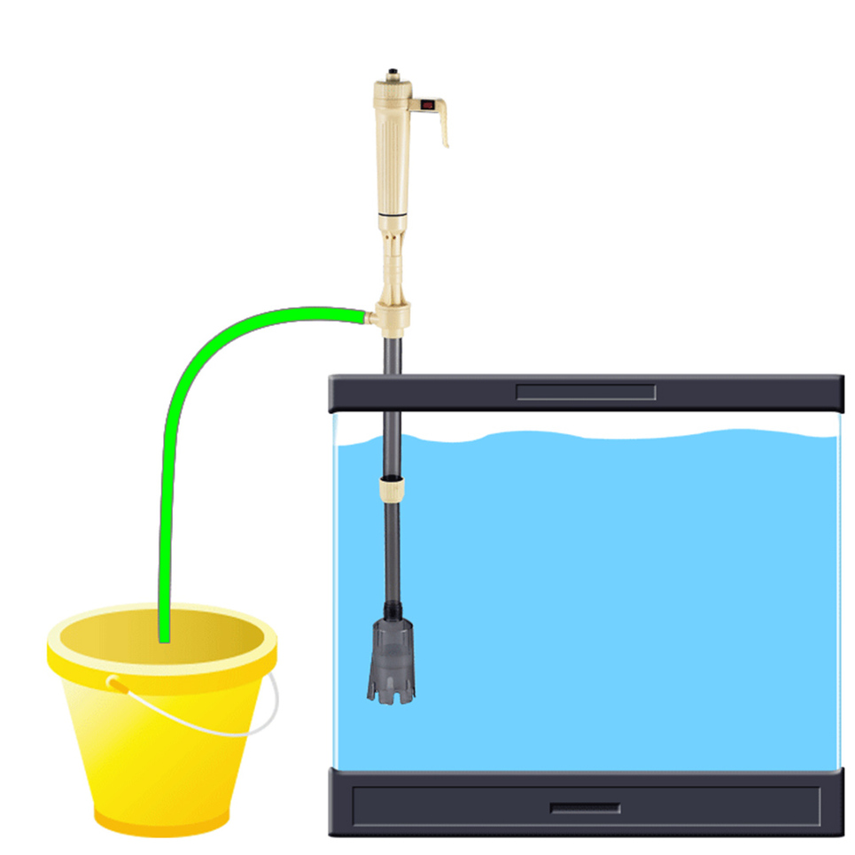New electric siphon vacuum cleaner water filter pump for for Fish tank vacuum