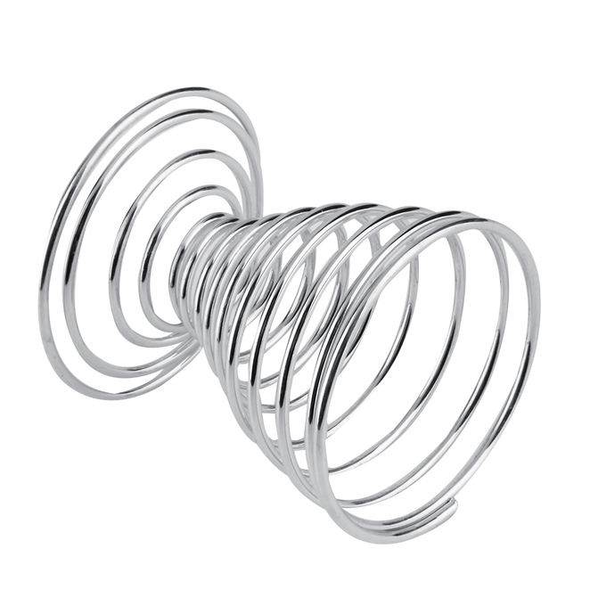 1pc stainless steel spring wire tray boiled egg cups