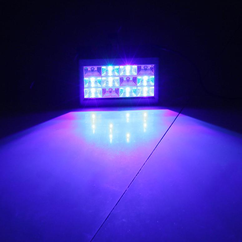 rgb 12leds sound activated strobe flash light stage effect lighting e0. Black Bedroom Furniture Sets. Home Design Ideas