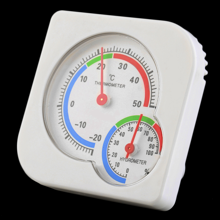 Nursery Baby House Room Mini Thermometer Wet Hygrometer