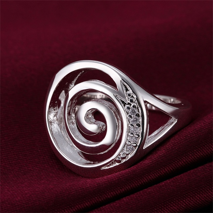 new unique rings silver plating finger ring size 8