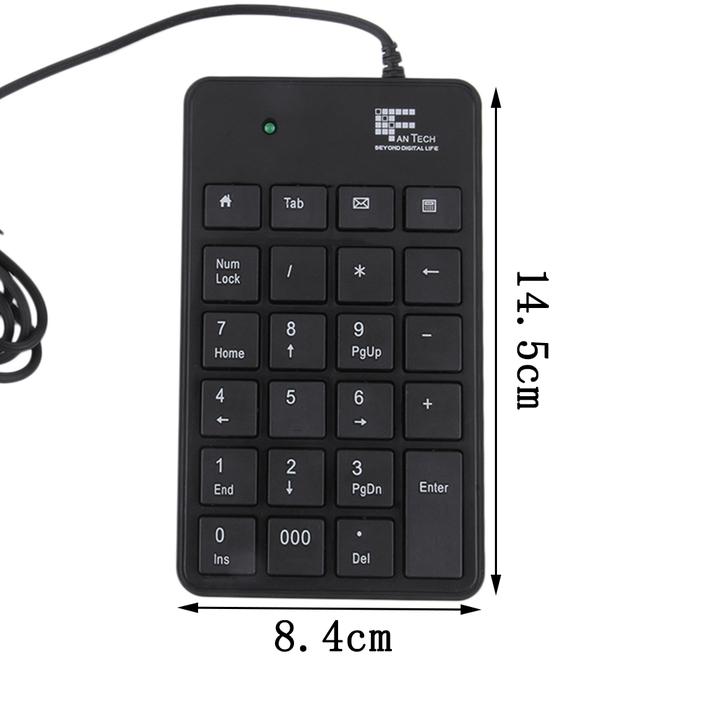 mini 23 keys usb number pad keypad numeric keyboard for laptop notebook f6 ebay. Black Bedroom Furniture Sets. Home Design Ideas