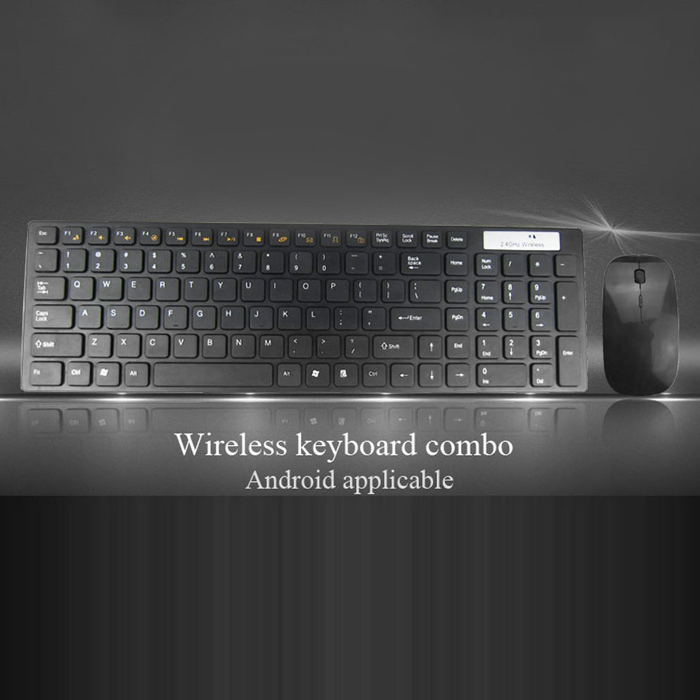 multimedia 2 4g wireless keyboard with optical mouse usb dongle combo set be. Black Bedroom Furniture Sets. Home Design Ideas