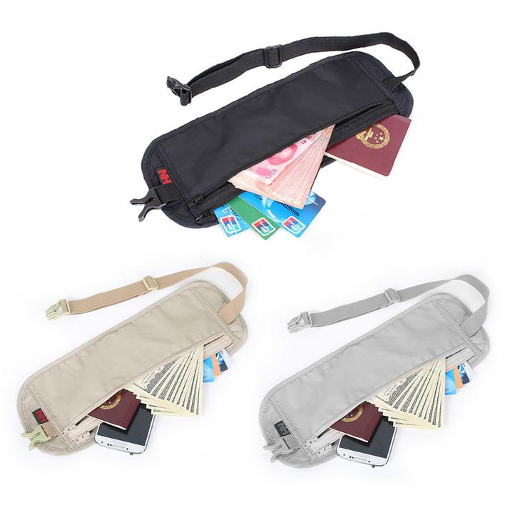 Ultra thin waist bag travel packs hidden pockets personal outdoor money belt be ebay for Travel gear hidden pocket