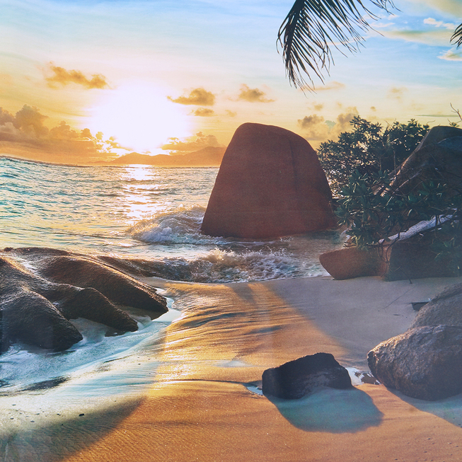 3D Beach Sunshine Scene Wall Stickers Decals for Home Bedroom ...