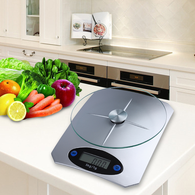Best Digital Kitchen Scale: 5Kg/11lbs X 1g/0.1oz Digital Kitchen Scale Glass Top Food