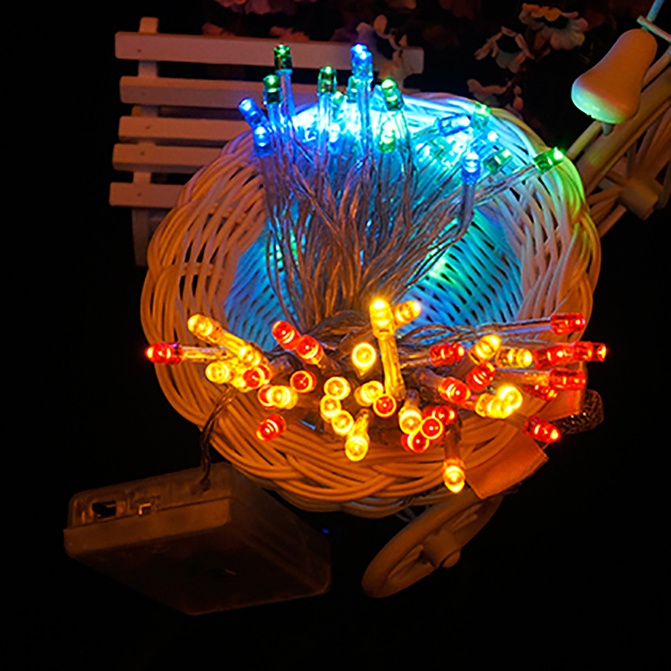 Ball String Christmas Lights : Cotton Ball Fairy Led String Lights Wedding Party Christmas Battery Powered F5 eBay