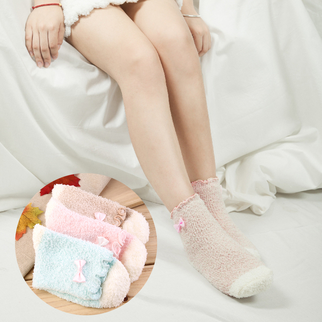 Fashion Sweet women Girls Cute Bow Breathable Soft Socks High Socks F7