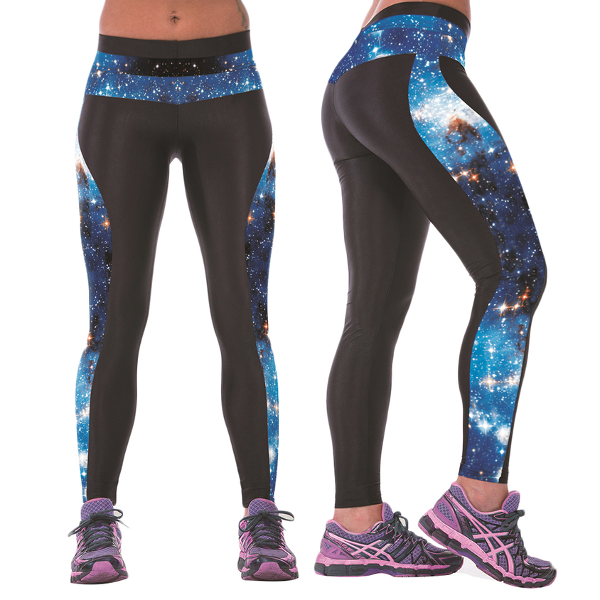 Womens YOGA Workout Gym Digital Printing Sports Pants