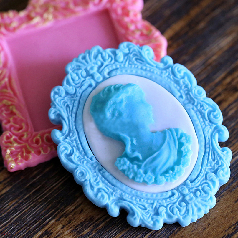 Cake Decorating Silicone Molds Uk : Mirror Frame Silicone Fondant Mould Cake Decorating ...