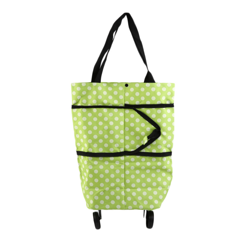 portable folding wheel handle carry shopping bag rolling grocery cart tote f7. Black Bedroom Furniture Sets. Home Design Ideas