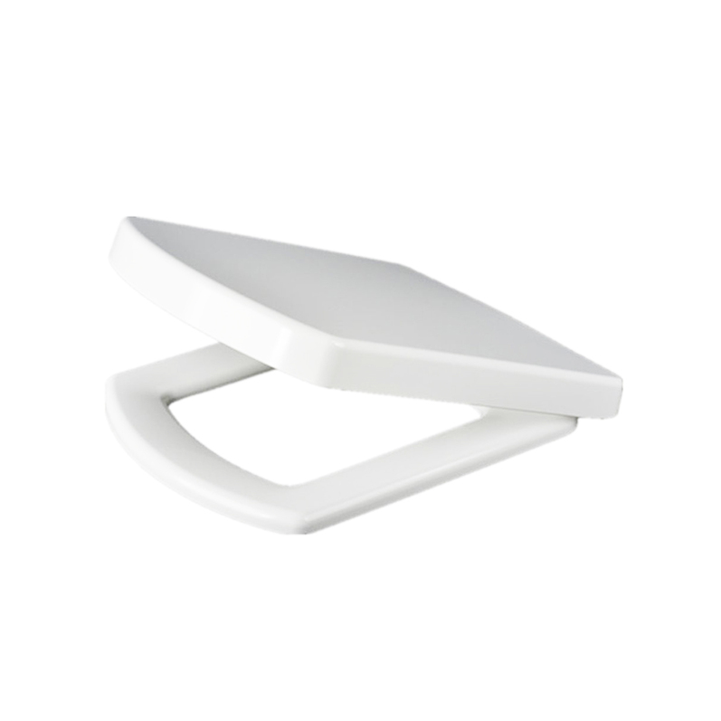 New White Slow Close Luxury Square Toilet Seat Top Squared Easy Clean HC EBay