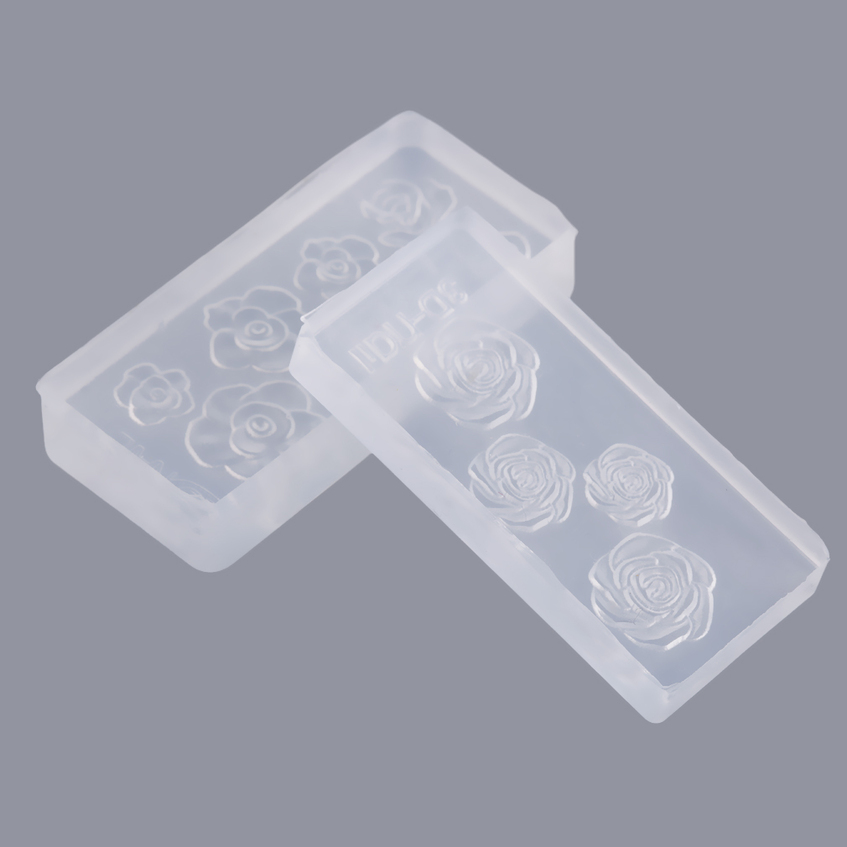 6 pcs different design nail art tips 3d acrylic mold diy for 3d acrylic nail art mold diy decoration