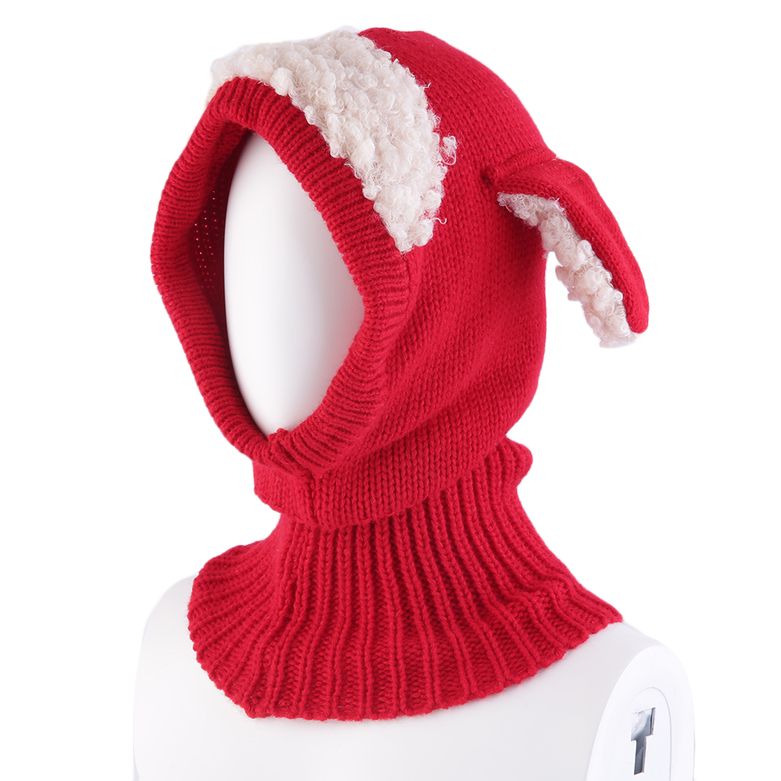 Winter Baby Girl Boy Warm Dog Knitted Crochet Hooded Hat ...