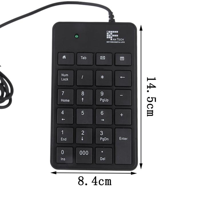 mini 23 keys usb number pad keypad numeric keyboard for laptop notebook ga. Black Bedroom Furniture Sets. Home Design Ideas