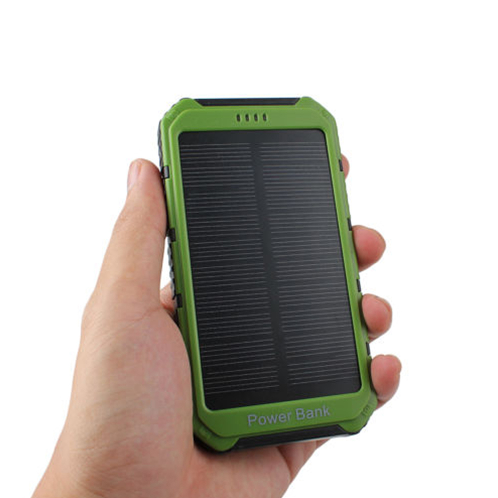 18000mah solar panel 2a 1a battery power bank external. Black Bedroom Furniture Sets. Home Design Ideas