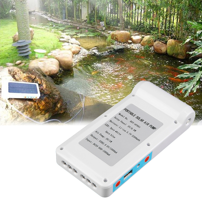 Solar Power Panel Oxygen Oxygenator Air Pump Aerator Pool Pond Fish Tank Gt Ebay