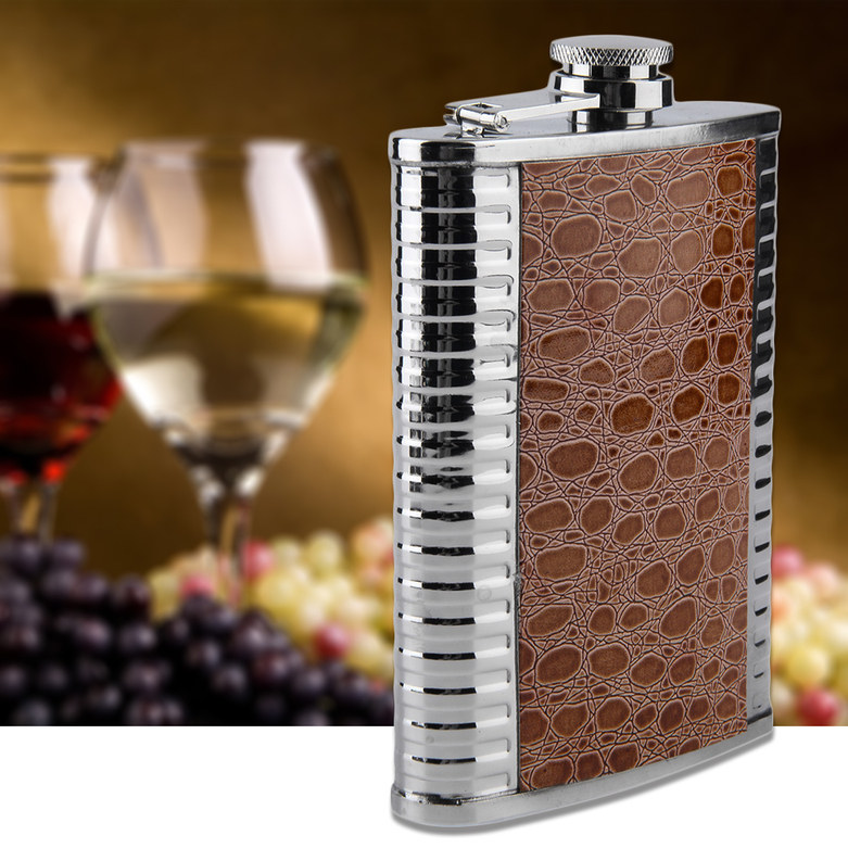 New Portable 200ml 8oz Stainless Steel Hip Flask Alcohol Drinking Wine Bottle np