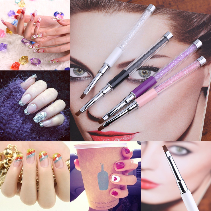 1Pc Nail Art Care Tools Crystal Gel Pen Brush Handle Nail Art Tool ...