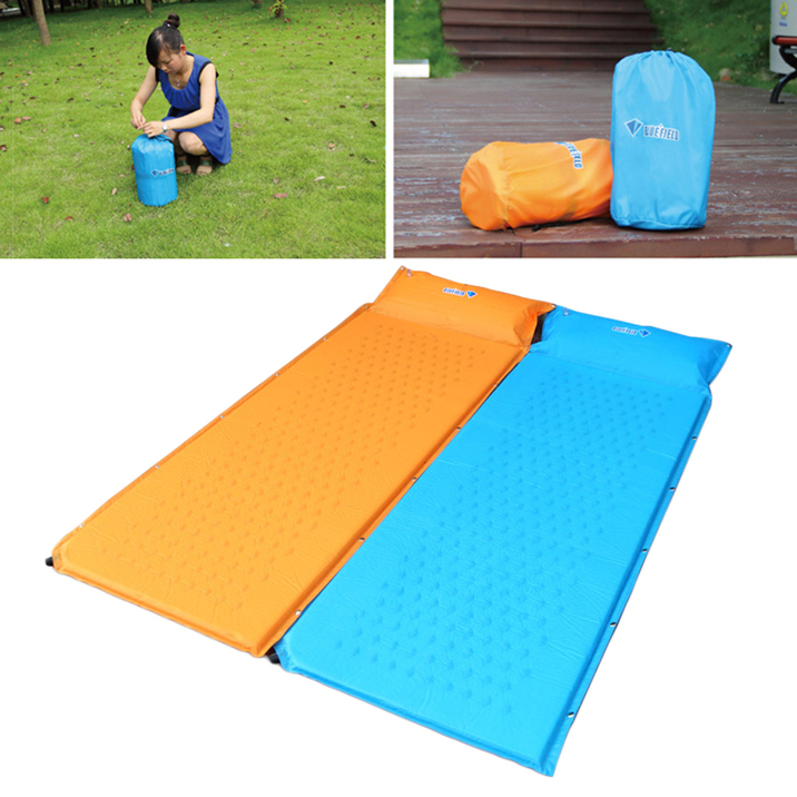 Self Inflate Camping Mat Inflatable Pillow Sleeping Bag ...