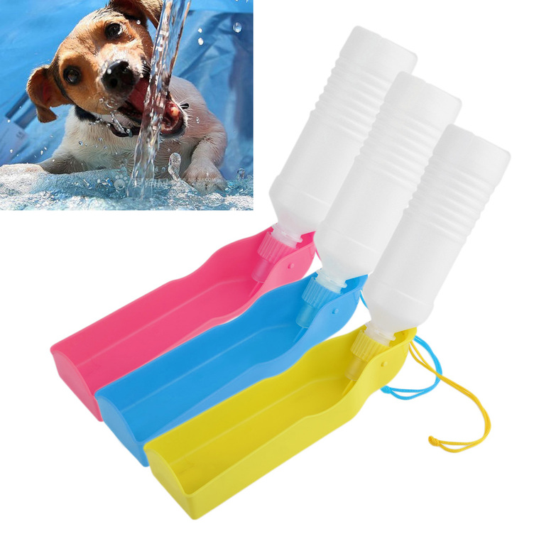 Portable Pet Dog Cat Travel Drinking Water Bowl Bottle: Potable Pet Dog Cat Water Feeding Drink Bottle Dispenser