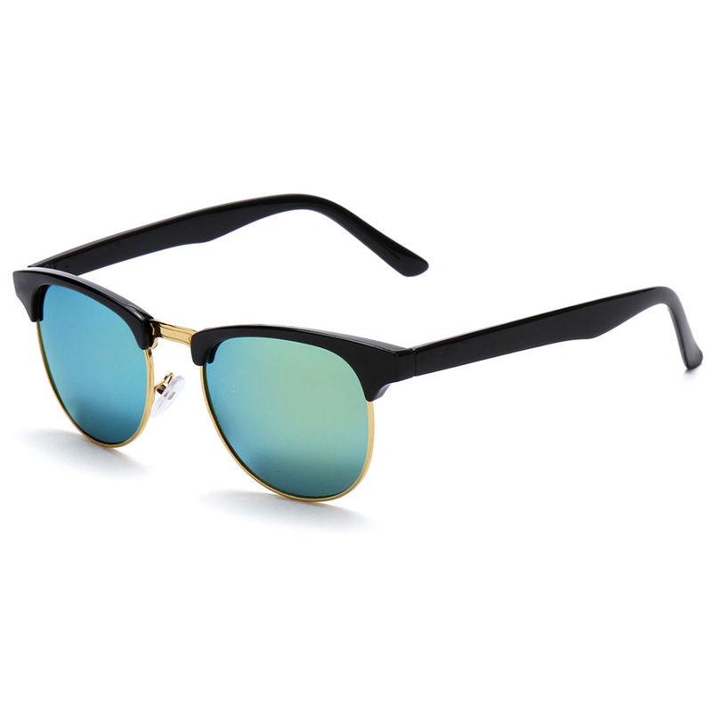 Women Men Cat Eye Retro Vintage Half Frame Metal ...