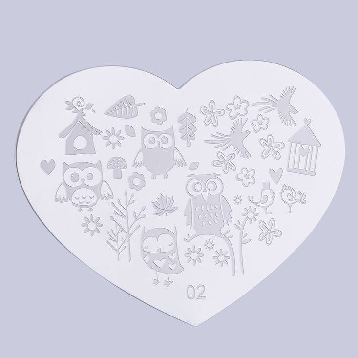 Heart-Shape-Nail-Art-Printing-Plate-Image-Stamping-Plates-Manicure ...