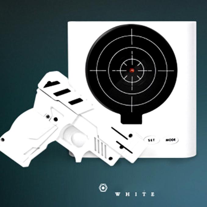 Gun Alarm Clock Target Wake Up Shooting Game Toy Novelty: Target Desk Clock Fun Creative Shooting Alarm Wake Up