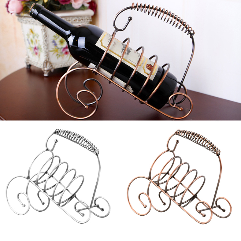Modern Style Wine Bottle Holder Hanger Red Wine Rack Support Bracket New AU