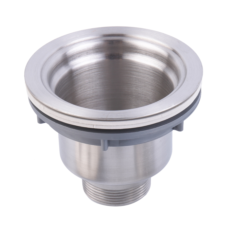 Stainless steel kitchen sink drain assembly waste strainer for 2 kitchen sink drain