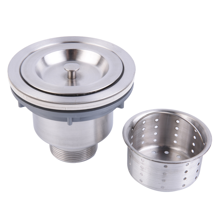 Kitchen Sink Drain Assembly: Stainless Steel Kitchen Sink Drain Assembly Waste Strainer