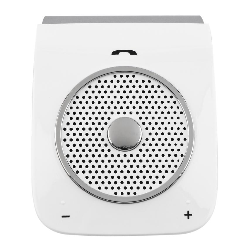 blanc basse st r o sans fil bluetooth car kit haut parleur handfree pour t l phone intelligent. Black Bedroom Furniture Sets. Home Design Ideas
