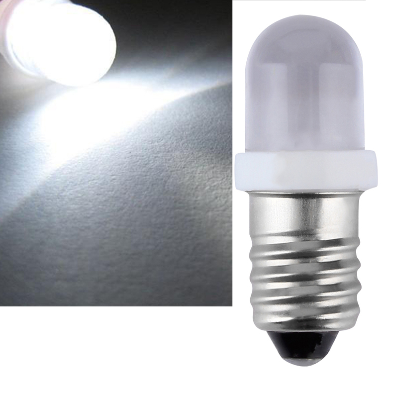 Led Bulb Dc: E10 LED Screw Base Indicator Bulb Cold White 6V DC