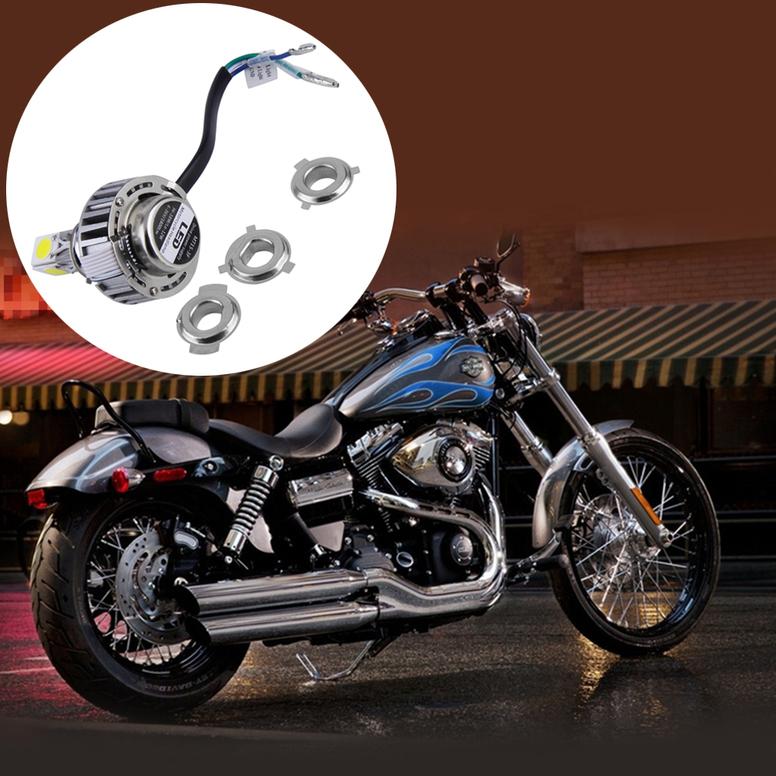 h4 super bright white led motorcycle headlight bulb for harley davidson bn ebay. Black Bedroom Furniture Sets. Home Design Ideas