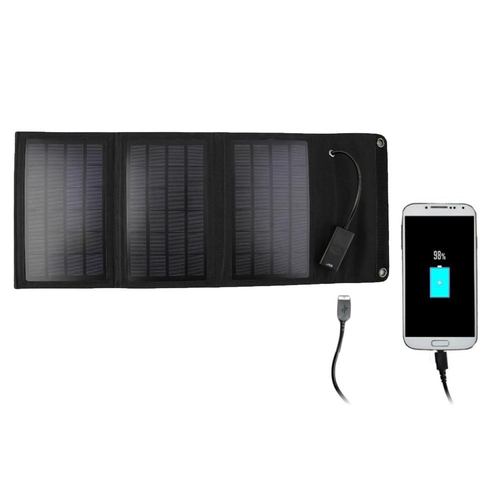 15w Folding Solar Panel Travel Camping Portable Battery