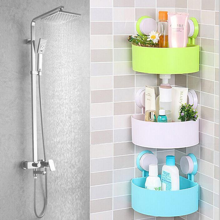 plastic bathroom corner storage rack organizer shower. Black Bedroom Furniture Sets. Home Design Ideas