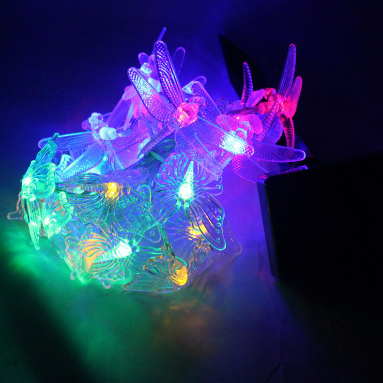 20 LED Solar Butterfly & Dragonfly Fairy String Lights Party Garden Decor OE eBay