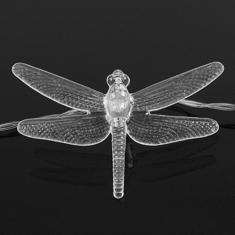 Dragonfly String Lights Outdoor : 20 LED Solar Butterfly & Dragonfly Fairy String Lights Party Garden Decor OE eBay