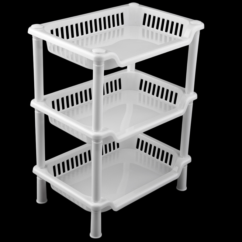 Plastic Kitchen Shelf: Square Plastic Bathroom Shelf Storage Rack Toilet DIY