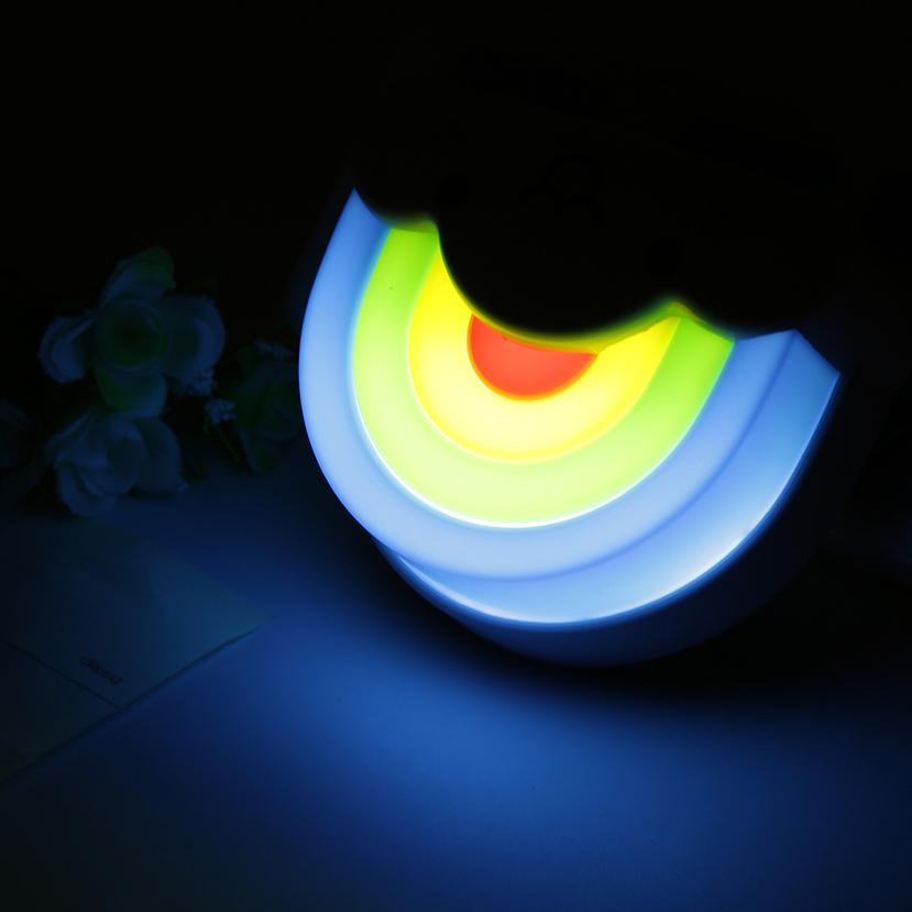 Mini Cute Rainbow Cloud Led Night Light Lamp With Voice