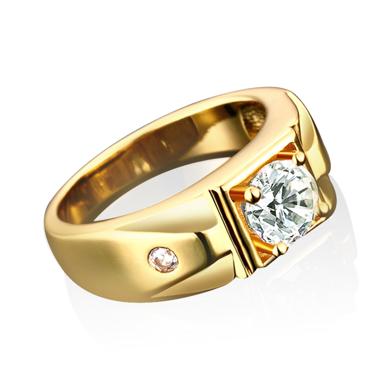 simple classic s gold plating bling wedding ring band