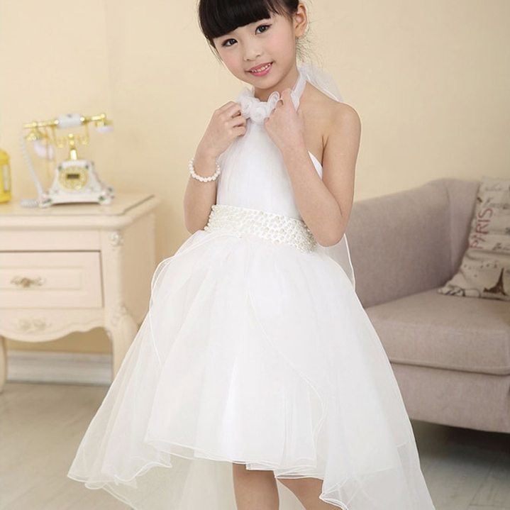 Amazing White Flower Kids S Pageant Wedding Birthday Party Princess With Ebay Dresses From China
