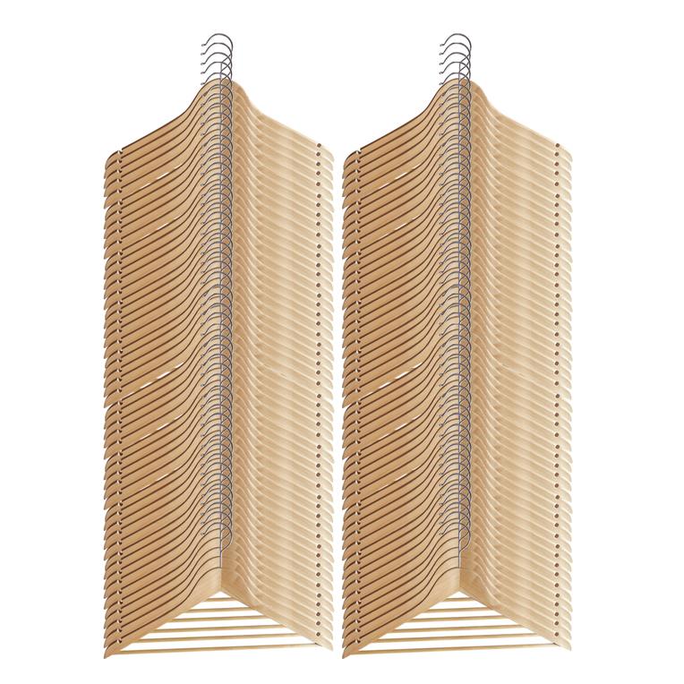 10 100 st ck kleiderb gel holz natur holzb gel mit hosenstange garderobenb gel ebay. Black Bedroom Furniture Sets. Home Design Ideas