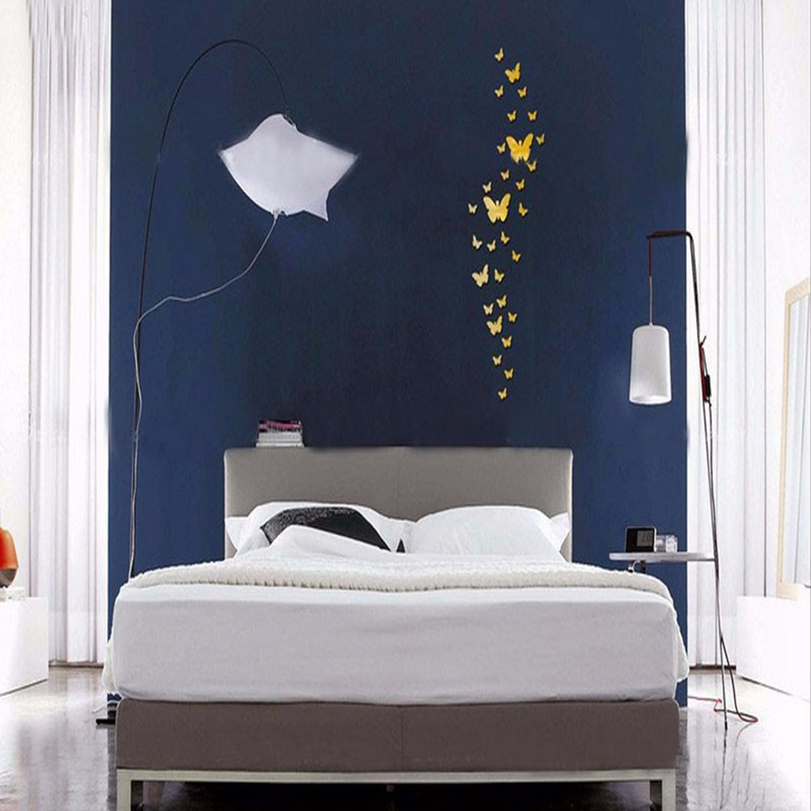 36pcs Romantic Butterfly Mural Mirror Wall Stickers Room Home Decor DIY SN