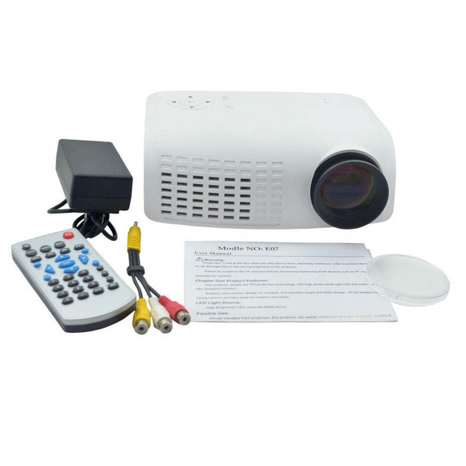 Mini led lcd 120 lumen full hd multimedia beamer portable for Full hd pocket projector