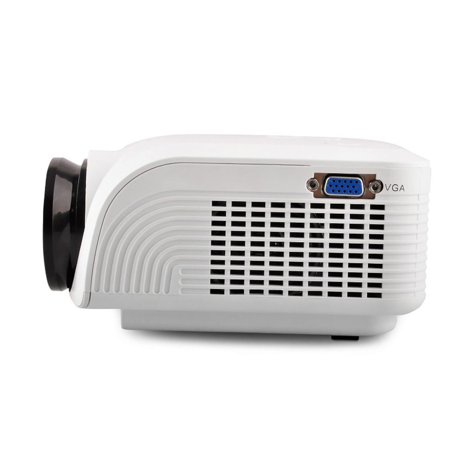 Mini led lcd 120 lumen full hd multimedia beamer portable for Mini hd projector