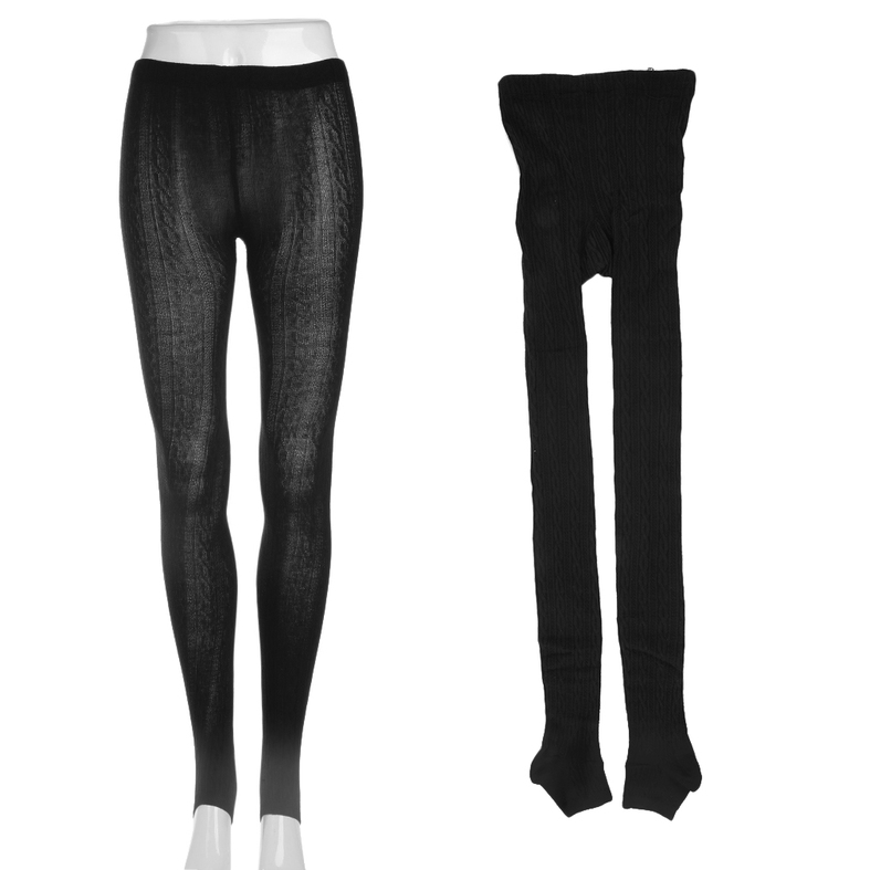 Women Cotton Tights Pants Stirrup Winter Warm Trousers One ...