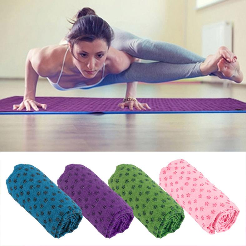 Sport Fitness Exercise Plum Yoga Massage Mat Cover Towel